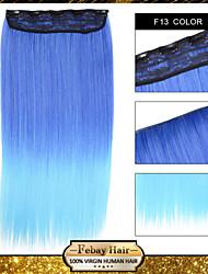1pc / 110g muito grampo em linha reta na peruca sintética extensão f13