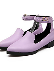 Women's Shoes   Low Heel Pointed Toe Flats Casual Black/Brown/Purple/White