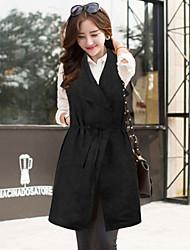 Women's Fashion Vintage/Casual Vest Coat with Belt