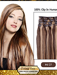 "18 ""4/27 clip in remy human hair extensions"