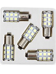 lorcoo ™ 5pcs BAY15D 1156 27 SMD 5050 LED voiture queue frein d'arrêt de lumière de clignotant 12v blanc