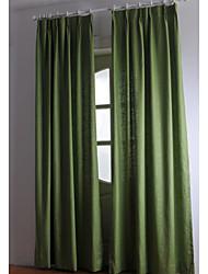 (due pannelli) biancheria / pannello solido cotone (verde)