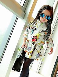 Kid's Printed Long-sleeved Jacket Skirt Suit