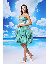 Cocktail Party Dress - Multi-color Ball Gown Sweetheart Knee-length Organza / Satin