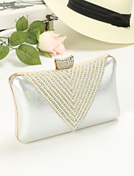 Women 's Luxurious Diamond Design Clutch/Evening Bag - Green/Gold/Red/Silver/Black