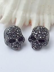Stud Earrings Rhinestone Alloy Screen Color Jewelry For 2pcs