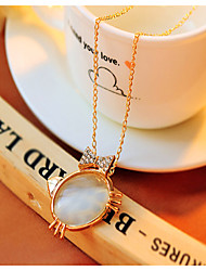 Korean Cute Opal Butterfly Sweater Chain Cute/Casual Gemstone & Crystal Choker
