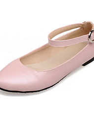 Women's Shoes Leatherette Flat Heel Pointed Toe / Closed Toe Flats Office & Career / Dress / Casual Black / Blue / Pink