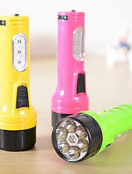The LED Rechargeable Flashlight   Random Color
