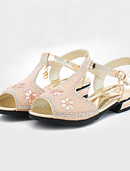 Girls' Shoes Casual Peep Toe Synthetic Sandals Pink/Silver/Gold