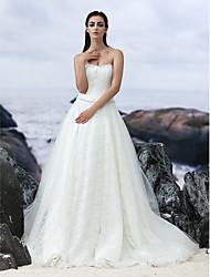 Vestido de noiva sem alças strapless com vestido de casamento com lan ting bride®