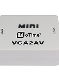 oTime® OT-M625 PC TO TV VGA TO AV VGA TO RCA with Audio-White