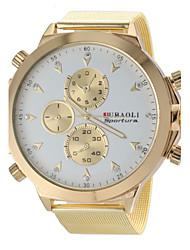 JUBAOLI® Men's Military Design Fashion Gold Steel Band Quartz Wrist Watch Cool Watch Unique Watch