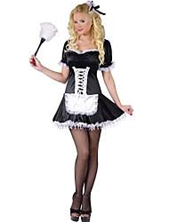 muito sem mangas&arco pu uniformes da empregada doméstica