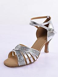 Women's Salsa Ballroom Practice Dance Shoes Stiletto Heel