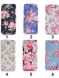 красочные цветок ультра тонкий вид из окна откидная крышка PU кожаный чехол для iPhone 5с (ассорти цветов)