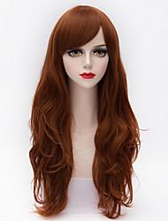 longo mergulhado ondulado natural, vinho cabelo estrondo lado vermelho sintético resistente ao calor europeu mulheres lolita peruca