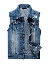 Men's Pattern Sleeve Length Jeans Type