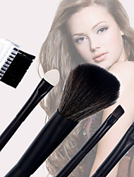 5PCS Wooden Handle Cosmetic Brush Set