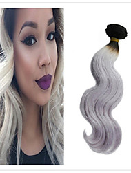 3Pcs/Lot Top Quality Ombre Brazilian Virgin Hair Body Wave 1B/Silver Color Unprocessed Ombre Grey Human Hair Extension