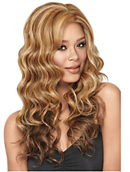 Kanekalone Synthetic Fiber Wave Beautiful Miracurl Curly Long Blonde Wigs for Black Women