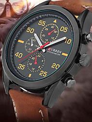 uomini curren quarzo orologio da polso impermeabile calendario orologio sportivo genuino orologio da polso in pelle montre reloj relogio