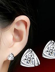 Women's Stud Earrings Love Costume Jewelry Sterling Silver Cubic Zirconia Jewelry For