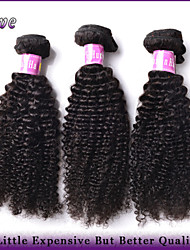 "3Pcs/Lot 10""-28"" Peruvian Virgin Hair Natural Black Color Kinky Curly Unprocessed Human Hair Weaves Rosa Hair Products"