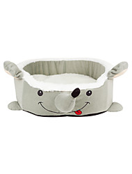Smart Grey Mouse Design Beds with Cushion for Small Pets Dogs Cats