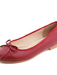 Zapatos de mujer - Tacón Bajo - Bailarina - Mocasines - Oficina y Trabajo / Vestido / Casual - Semicuero - Rojo