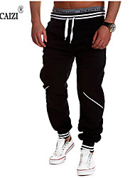 Men's Sweatpants , Casual/Sport/Plus Sizes Print/Plaids & Checks Cotton Blend