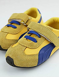 Baby Shoes Casual Leather Fashion Sneakers Blue/Yellow