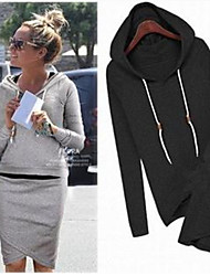 Women's Hoodie Suits , Cotton Blend/Organic Cotton Casual/Work Long Sleeve Phylomeya