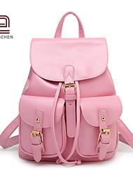 handcee® mejor mujer vendedor diseño elegante mochila de moda remache de la PU
