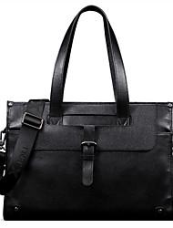 nubuck de cuero genuino de la vendimia para los hombres negro maletines de diseño únicos bolso del negocio del hombro originales