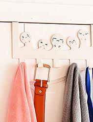 Creative Stainless Steel Door Hook Back Style Cartoon Debris Hanging Coat Hook (Random Color)