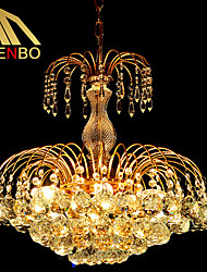 Modern LED Crystal Pendant Light 45cm With K9 Crystal Balls For Dining Room Bedroom Lighting (273