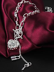 Femme Pendentif de collier Forme de Coeur Argent sterling Amour Argent Bijoux Pour