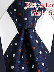 uxl24 shlax&lunares ala mens lazos corbata azul marino vestido de traje de seda azul oscuro largo