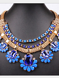 MISSING U Vintage / Party Alloy / Gemstone & Crystal / Resin Statement Necklace
