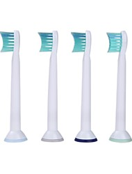 4pcs A Set Generic Replacement Electric Toothbrush Heads Soft-bristled HX6024 for Philips