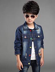 Boys Denim Coat Suit