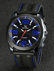 reloj del vestido correa de reloj de silicona de moda masculina