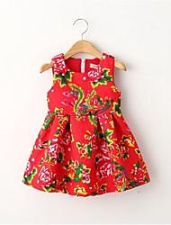 Bonito Rose petite fille robe rouge chinois