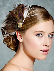 Hand Made Wedding Feather Hair Fascinator Headpieces Fascinators Headbands Hair Accessories Feather Wigs Accessories For Women 040