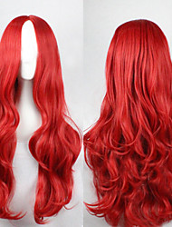 Cosplay Red Fashion Must-have Girl High Quality Long Curly Hair Wig