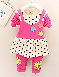 Girl's Cotton Blend Clothing Set , Spring/Fall Long Sleeve,For 0-4 Years Old Baby, Kids  Cotton Clothes