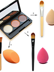 3 Concealer Makeup Brushes Face