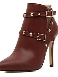 DOPO Women's Shoes Black/Grey/Wine Stiletto Heel 10-12cm Boots