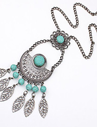 Liyin Fashional Popular Retro Tassel Leaf Necklace